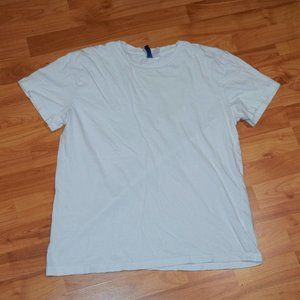 H&M DIVIDED Women's Sz L White T-SHIRT